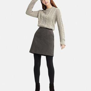 Theory Sachan Charcoal Gray Felt Wool Mini Skirt